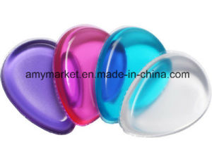 Silicone Cosmetic Powder Puff Easy Cleaning Washable Various Colour Powder Puff pictures & photos