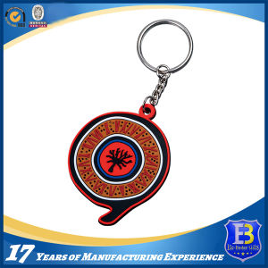 3D Rubberized PVC Keychain with Colorful Letters pictures & photos