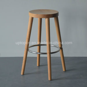 Commercial High Round Wooden Bar Stool (SP-HBC255) pictures & photos