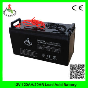 12V 120ah Mf Rechargeable VRLA AGM Lead Acid Solar Battery