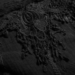 T-452 New Autumn Gothic Asymmetric Hem Square Collar Feminine T-Shirt pictures & photos