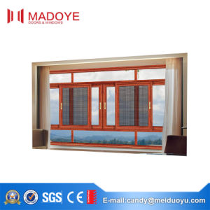 Guangzhou Thermal Break Aluminium Sliding Window with Mesh pictures & photos