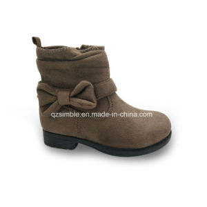 2017 Children Safety Outdoor Boots Shoes with Bowknot (17333-KIDS) pictures & photos