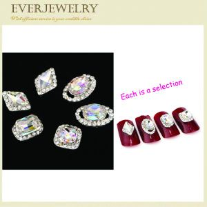 High Quality Different Shape Glossy Nail Crystal Stones with Various Colors pictures & photos