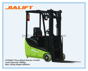 Hot Sale 1.5 Ton Three Wheel Electric Forklift E1530GS with AC Motor pictures & photos