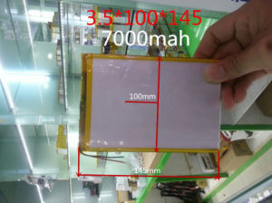 3.7V 7000mAh (polymer lithium ion battery) Li-ion Battery for Tablet PC 9.7 Inch 10.1 Inch Speaker [3.5*100*145] pictures & photos