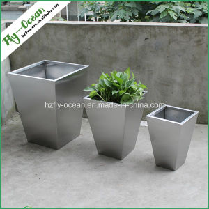 FO-9002 Conical Stainless Steel Shopping Mall Planter Pot pictures & photos