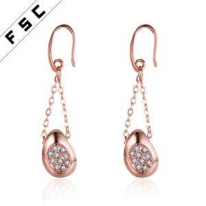 Fashion Jewellery Rose Gold Plated Platinum Plant Shape Drop Earrings pictures & photos