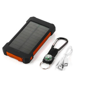 Flashligh Ipx6 Waterproof 10000mAh Emergency Solar Power Bank pictures & photos