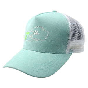 Custom Green/White Snapback Trucker Hat with Embroidery pictures & photos