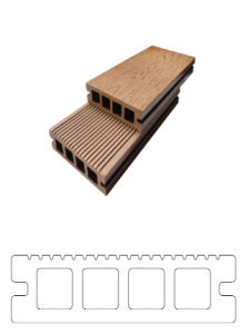 100mm*25mm Waterproof WPC Floor for Outdoor (BC100H25) pictures & photos