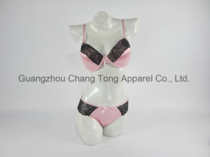 Sexy Girl Pink Female Underwears Bra Sets pictures & photos