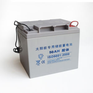 Low Discharge Rate Rechargeable Gel Batteries 12V 50ah pictures & photos