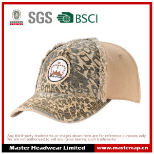 Fashion Camo Color Tattered Edges Wash Baseball Cap pictures & photos