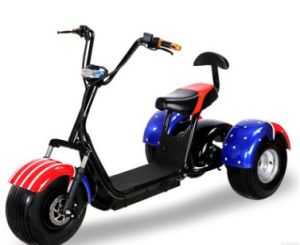 2017 New Brand Style Electric Scooter 60V 20ah Fat Tire 800W 1000W 1500W Citycoco with Suspension Front pictures & photos