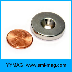 High Quality Rare Earth Magnet with Screw Hole Ring Magnets pictures & photos