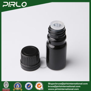 5ml Black Essential Oil Glass Bottles with Black Screw Cap pictures & photos