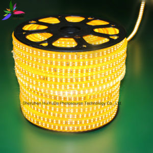 Yellow Color 120leds SMD2835 220V IP65 LED Rope Light pictures & photos