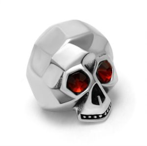 Ghost Skull Men Rings Stainless Jewelry Red Zircon Eyes pictures & photos