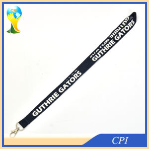 Classic Black Lanyard with White Capital Letter Text pictures & photos