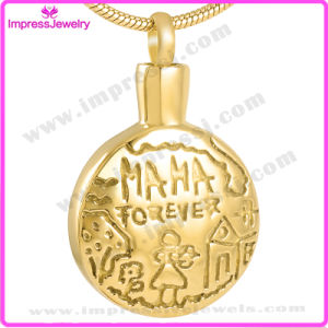 Gold-Plated Cremation Jewelry Urn Pendant Necklace for Ash Wholsesale pictures & photos