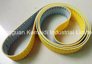 60-At5-3275 Synchronous Belt Coating Yellow Sponge and Punching Hole pictures & photos