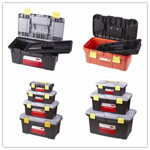 "19"" Black Portable Plastic Hand Tool Container Box pictures & photos"