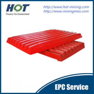 High Manganese Steel Jaw Crusher Fixed Jaw Plate pictures & photos
