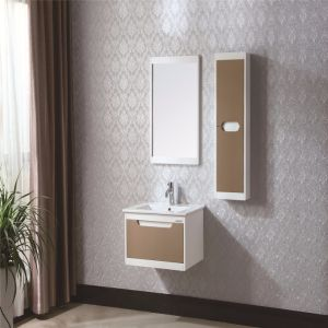 Ceramic Basin Sanitary Ware Oak Wood Bathroom Vanity Cabinet pictures & photos
