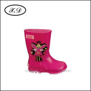 Fashion Rain Boots with 3D Label (BX-031) pictures & photos