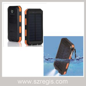 Waterproof 10000mAh Solar Power Bank Rechargeable Battery Charger pictures & photos