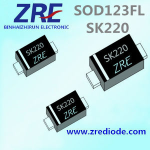 2A Sk22FL Thru Sk220FL Schottky Barrier Rectifier Diode SOD123FL Package pictures & photos