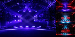 7*15W Continu Rotating Moving Head Beam RGB LED Disco Light pictures & photos
