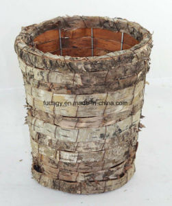 Natural Birch Bark Flower Basket for Garden Nursery pictures & photos