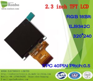 "2.3"" 320*240 RGB 18bit 40pin ODM High Brightness TFT LCD Screen pictures & photos"