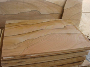 Sandstone Slab for Sale Yellow Sandstone Slab pictures & photos