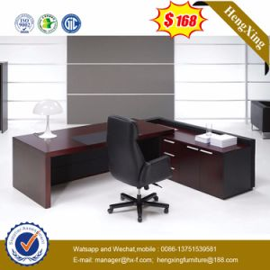Melamine Laminated L Shape Modern Office Table (HX-NT3252) pictures & photos