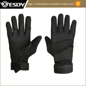 Black Military Winter Shooting Cycling Skiing Full Finger Protective Gloves pictures & photos