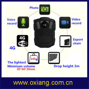 WiFi / Bluetooth / 4G / 3G / GPS Police Body Worn Camera pictures & photos