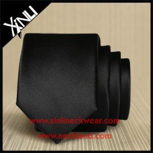 Handmade Plain Silk Black Tie for Men pictures & photos