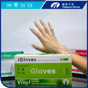 Disposable Clear Vinyl Gloves for The Food Grade Service En/Ce/FDA/510k Certificate pictures & photos