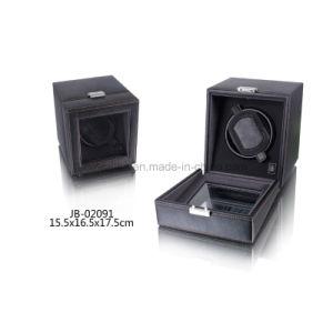 Black Leather Watch Display Case Single Watch Winder