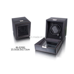 Charming Black Leather Watch Display Case Single Watch Winder pictures & photos