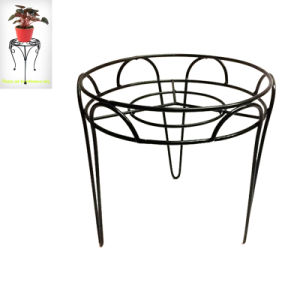 Decorative Home Decoration Black Linellae Stool Flowerpot Stand pictures & photos