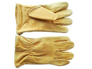 Child Premium Cow Grain Leather Keystone Thumb Driver Glove pictures & photos