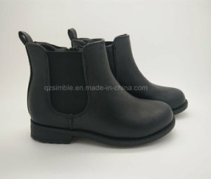 Children Safety Working Work Boots Shoes for Outdoor (17135 BLACK) pictures & photos