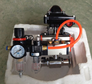 Pneumatic Sanitary Ball Valve with Limit Switch, Solenoid Valve pictures & photos