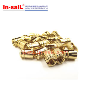Cl Type Bottom-Slotted Brass Threaded Insert Nut pictures & photos