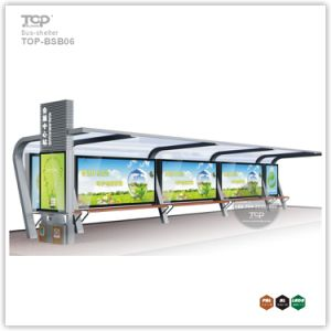 Outdoor Stainless Steel Structure Aluminum Alloy Bus Shelter Advertising Light Box pictures & photos