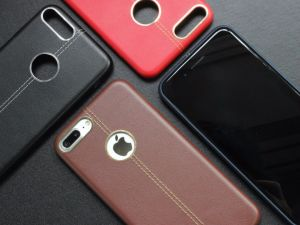 New Business Style Stitching PU Leather Mobile Phone Case pictures & photos